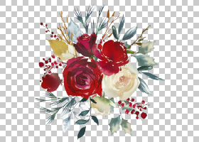 鲜花婚礼请柬水彩,静物,人造花,牡丹,玫瑰秩序,水彩画,粉红色,花