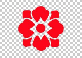 红花,对称性,圆,面积,线路,花瓣,红色,花,商业,符号,公司,价格,服图片