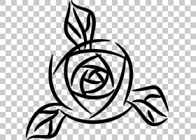 黑白花,线路,圆,符号,对称性,植物,线条艺术,蓝色,紫色,花,红色,