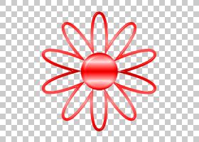 向日葵贴纸,对称性,圆,面积,线路,花瓣,花,红色,电影,普通向日葵,