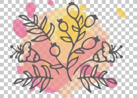 花卉婚礼邀请函背景,线路,树,花瓣,植物,粉红色,光栅图形,叶,花,