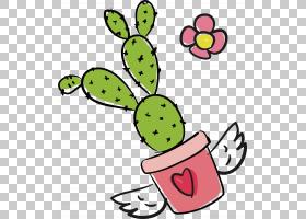 粉红色花卡通,线路,绿色,水果,食物,面积,植物,花盆,花,