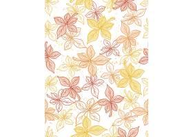 简洁插画风植物叶子元素无缝装饰底纹背景