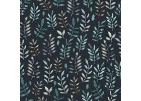 清新精美的水彩插画风植物花卉无缝装饰底纹背景