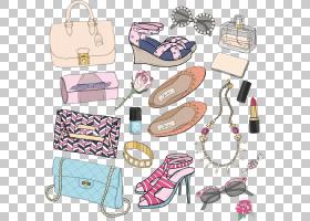 化妆卡通,鞋类,粉红色,香水,化妆师,时尚,首饰,服装辅料,鞋,手提