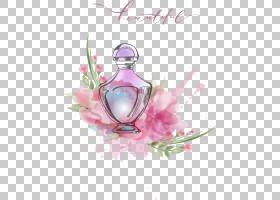 粉红色花卡通,花卉设计,插花,健康美容,静物摄影,花瓣,玻璃瓶,花,