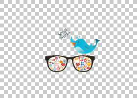 Facebook商业背景,眼镜,线路,鸟,黄色,眼镜,身体首饰,太阳镜,专业