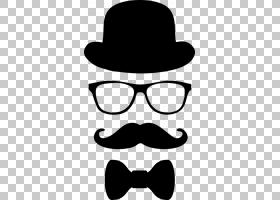 顶帽卡通,徽标,太阳镜,剪影,牛仔帽,软呢帽,线路,头盔,黑白,眼镜,