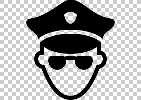 警察卡通,徽标,太阳镜,眼镜,线路,笑脸,头盔,微笑,黑白,黑色,眼镜