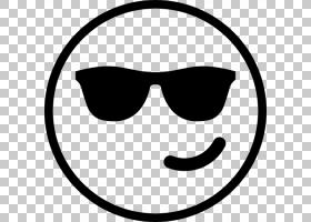 笑脸背景,圆,太阳镜,幸福,面积,眼镜,线路,文本,微笑,黑白,面部表