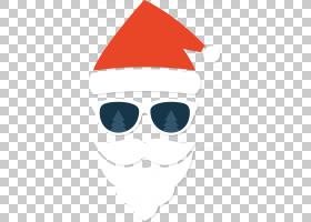 圣诞圣诞老人,微笑,鼻子,眼镜,头部,太阳镜,眼镜,圣诞节,圣诞老人