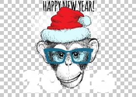 圣诞节和新年背景,眼镜,徽标,微笑,鼻子,面部毛发,眼镜,头部,太阳