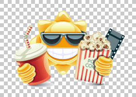 垃圾食品卡通,垃圾食品,快餐,黄色,食物,菜肴,爆米花机,电影,小吃