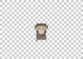 大猩猩卡通,矩形,正方形,棕色,大猩猩,眼镜,猿猴,动物,太阳镜,猩