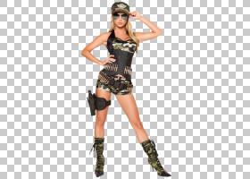 万圣节卡通背景,时尚模特,士兵,罗布裤套装,装饰品,军服,化妆舞会