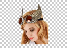 万圣节卡通背景,耳朵,前额,头盔,发饰,眼镜,帽子,蒸汽朋克时尚,新