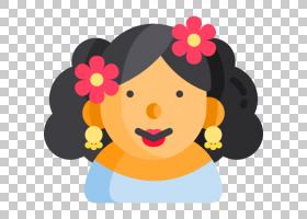 鼹鼠卡通,圆,孩子,幸福,花瓣,脸颊,卡通,鼻子,花,黄色,微笑,面部
