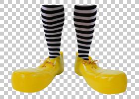 黄色背景,人腿,户外鞋,紧身衣,帽子,服装,黄色,鞋类,小丑,鞋,图片