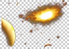 黄色背景,宇宙,计算机,特写镜头,黄色,