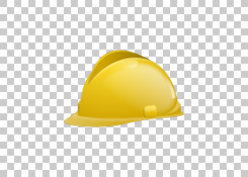 黄色背景,帽子,头盔,个人防护装备,学习,工程师,卡通,帽,头盔,黄图片