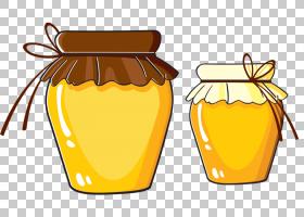 蜂蜜背景,水果,黄色,食物,蜜罐,Albom,罐子,卡通,蜂蜜,绘图,