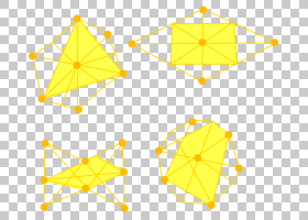 黄色背景,线路,点,对称性,三角形,面积,角度,黄色,