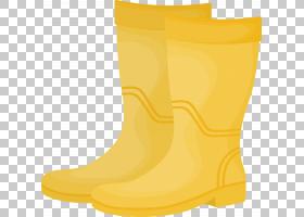 黄色背景,鞋类,户外鞋,雨,鞋,天然橡胶,惠灵顿靴子,启动,黄色,