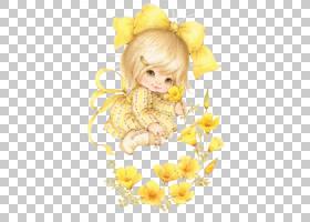 花卉背景,婴儿,微笑,蹒跚学步的孩子,孩子,天使,花瓣,花,黄色,霍