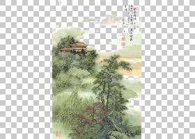 树木水彩画,草,植物,树,生态系统,水彩画,李毅,李白,作家,作者,觉