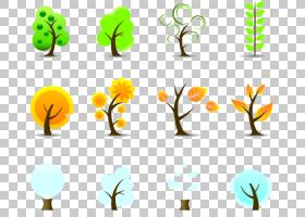 树枝剪影,绿色,植物群,花卉设计,线路,植物,圆,分支,叶,花,黄色,