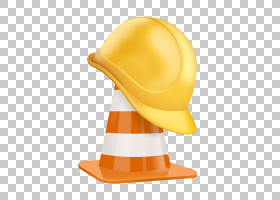帽子卡通,头盔,橙色,黄色,帽,客户,头盔,建筑,劳动者,帽子,建筑工