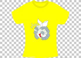 白花,材质,T恤,顶部,外衣,花,衬衫,白色,套筒,服装,黄色,T恤,