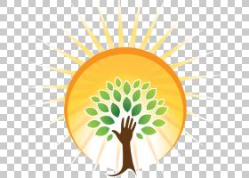 卡通自然背景,圆,向日葵,树,叶,花,黄色,疾病,能源医学,脊椎指压