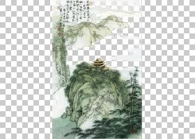 水彩树,绿色,木本植物,水彩画,树,绘画,植物群,植物,中国,白居易,