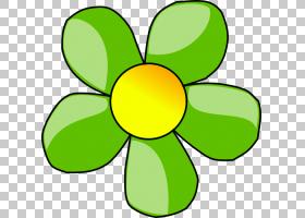 花卉剪贴画背景,线路,绿色,黄色,圆,符号,花瓣,面积,对称性,叶,植