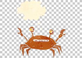 水彩画,表,橙色,食物,水彩画,绘图,卡通,螃蟹,