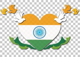印度独立日花卉背景,草,徽标,线路,面积,文本,叶,黄色,旗帜,愿望,