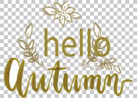 秋季卡通,线路,黄色,文本,书法,徽标,花,秋季,