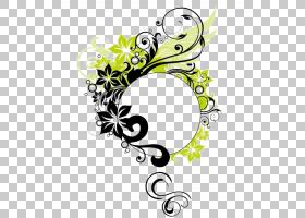 名片设计,线路,圆,绿色,花,黄色,文本,植物群,花卉设计,信封,名片