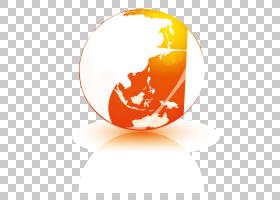 地球卡通,圆,世界,橙色,球体,地球仪,天空蓝,颜色,黄色,蓝色,地球