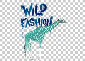 长颈鹿卡通,长颈鹿,文本,长颈鹿,蓝色,YouTube,魅力,时尚博客,商