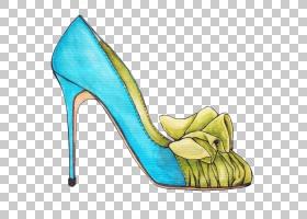 鞋凉鞋,高跟鞋,基本泵,绿色,水,周吉米,Manolo Blahnik,凉鞋,细高