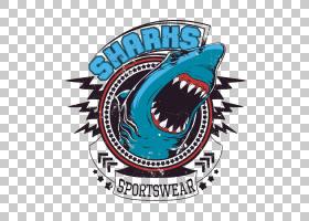 鲨鱼标志,符号,徽标,标签,会徽,锤头鲨,印花T恤,纺织品,时尚,个性