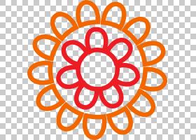 水彩花卉背景,线路,圆,橙色,符号,文本,面积,对称性,点,花,红色,