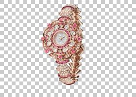金表,表带,洋红色,宝石,闪闪发光,金属,钻石,手表配件,粉红色,钟
