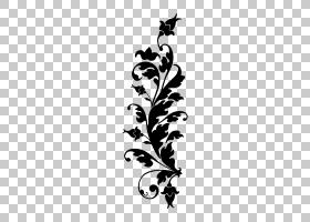 黑白花,植物茎,视觉艺术,分支,树,剪影,植物群,花,植物,叶,黑白,