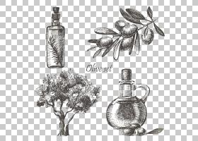 黑白花,黑白,瓶子,花,静物摄影,香水,树,玻璃瓶,植物群,油,水彩画