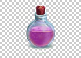 巫师卡通,洋红色,香水,玻璃瓶,液体,幻想,喝酒,绘图,魔术师,瓶子,
