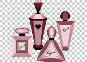化妆卡通,饮具,健康美容,粉红色,像素,卡通,化妆,香水,瓶子,