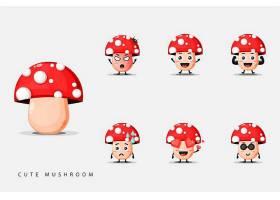 可爱的卡通蘑菇插画设计